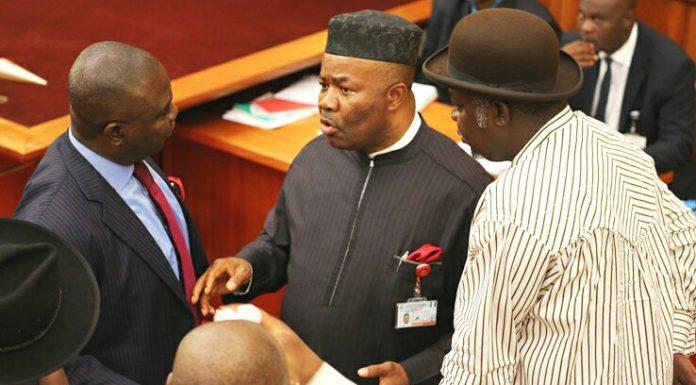 Uproar In Senate As Saraki Refuses To Recognise Akpabio@thegleamer.com