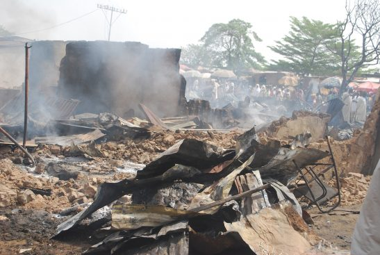 Fire destroys 31 shops at Gumi Market Kaduna