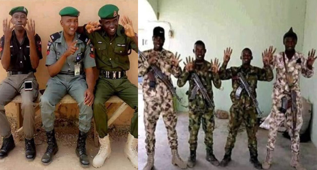 Military, Police to Investigate Photo Showing 4+4 Gesture in Support of Buhari