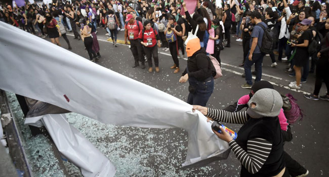 Hundreds Of Mexican Women Protest Alleged Rape Of Teenager By Police