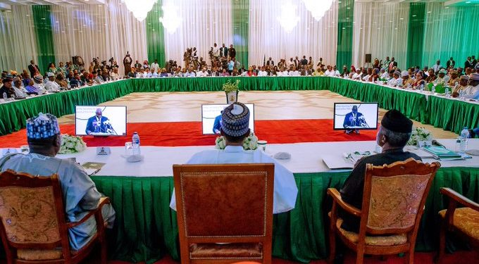Buhari kick starts day two of Presidential Retreat