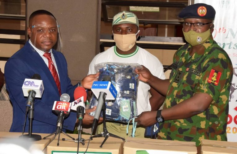 NYSC Boost Sports Ministry With 20,000 Face Masks For Sporting Activities