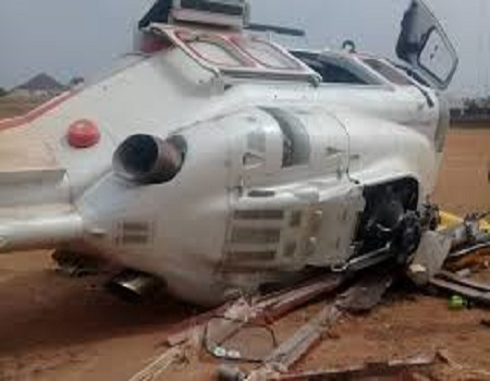 Just in: Helicopter Crashes Into Building In Opebi, Lagos