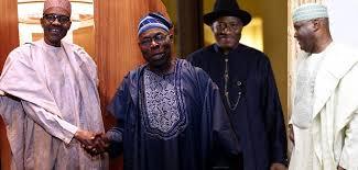 BREAKING: Buhari meets former leaders, Security Chiefs